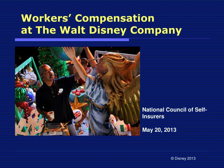 Workers compensation at the walt disney company