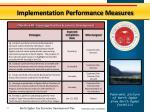 implementation performance measures6