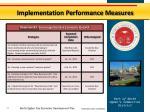 implementation performance measures7