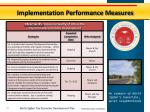 implementation performance measures9