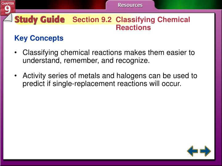 Section 9.2  Classifying Chemical