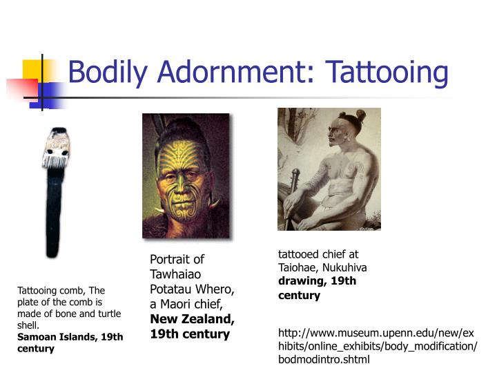 Bodily Adornment: Tattooing