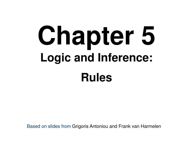 chapter 5 logic and inference rules n.