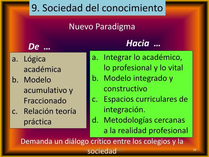 9. Sociedad del conocimiento