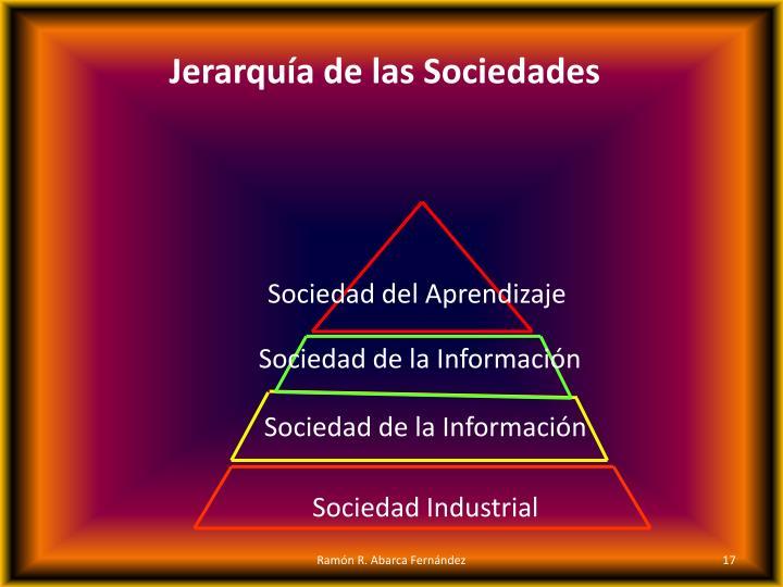 Jerarquía de las Sociedades