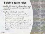 belbin s team roles