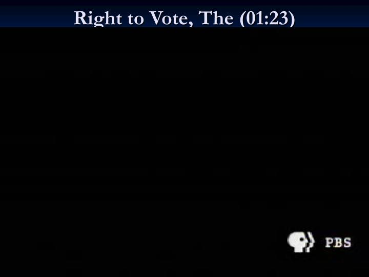 Right to vote the 01 23
