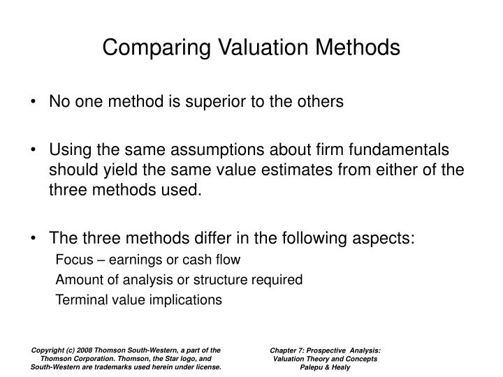 Comparing Valuation Methods