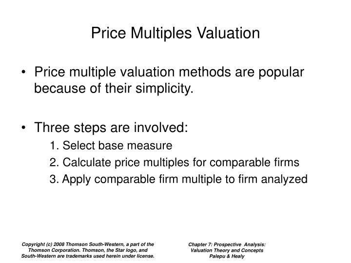 Price Multiples Valuation