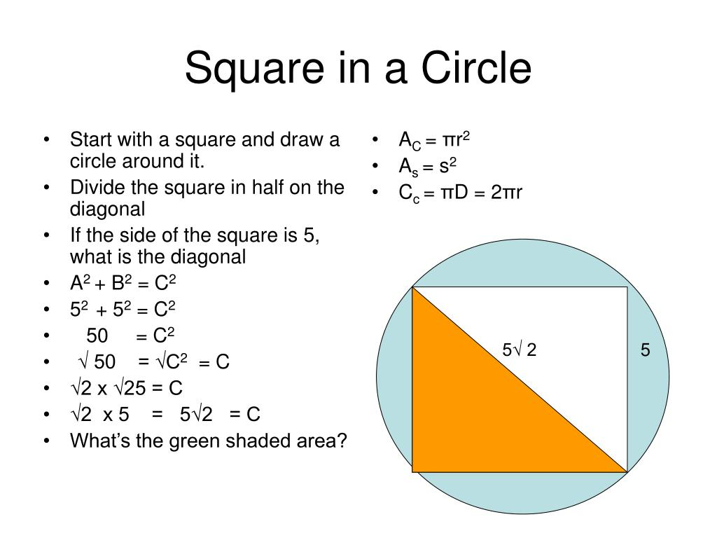 PPT - Square in a Circle PowerPoint Presentation, free download - ID:1847726