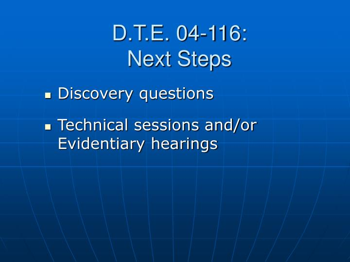 D.T.E. 04-116: