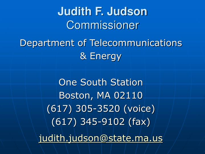 Judith F. Judson