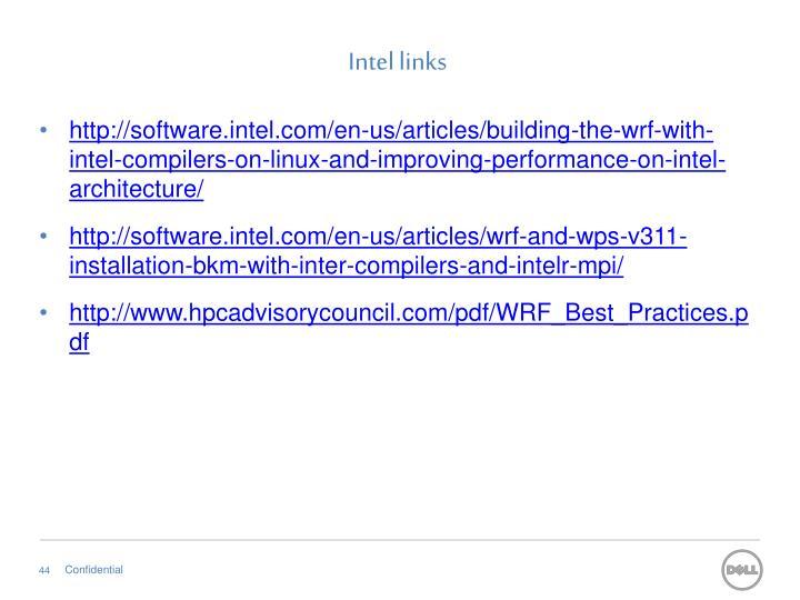 Intel links