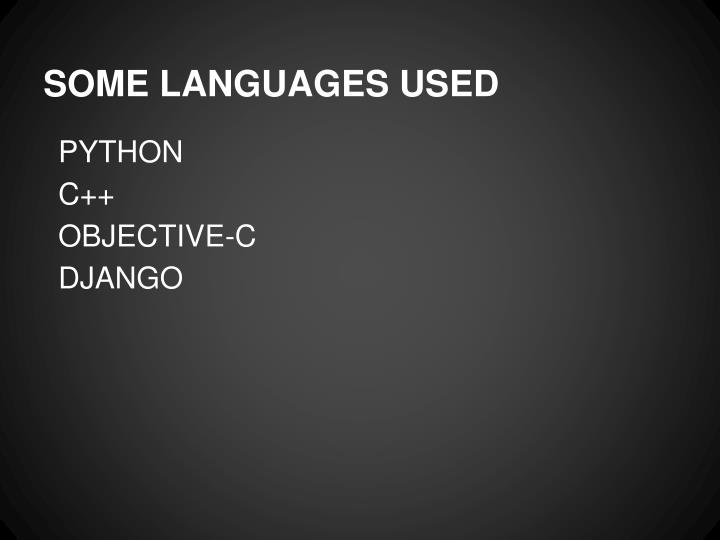 Some languages used