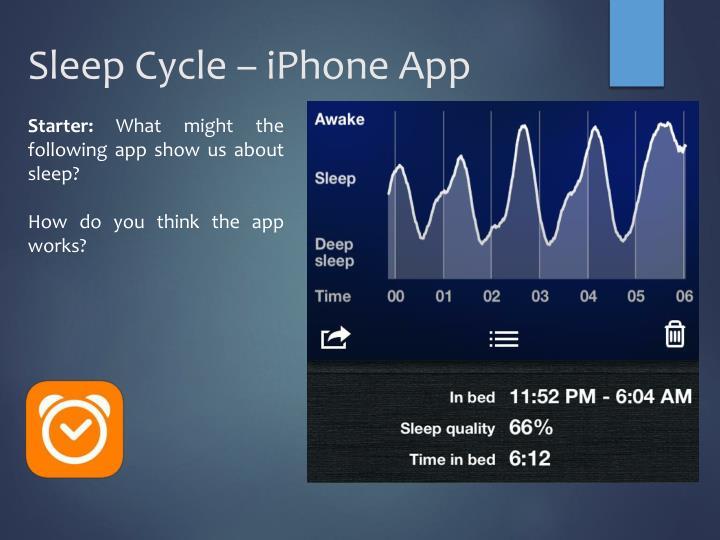 Sleep Cycle – iPhone App