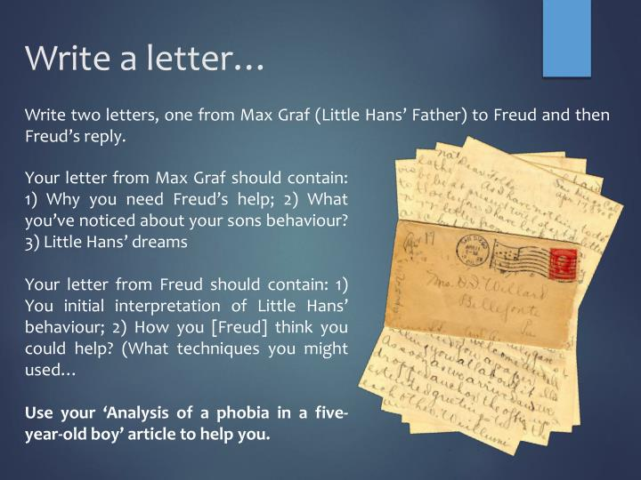 Write a letter…
