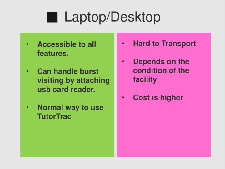 Laptop/Desktop
