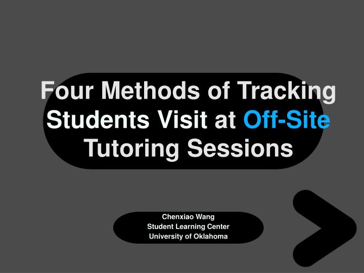 Four Methods of Tracking