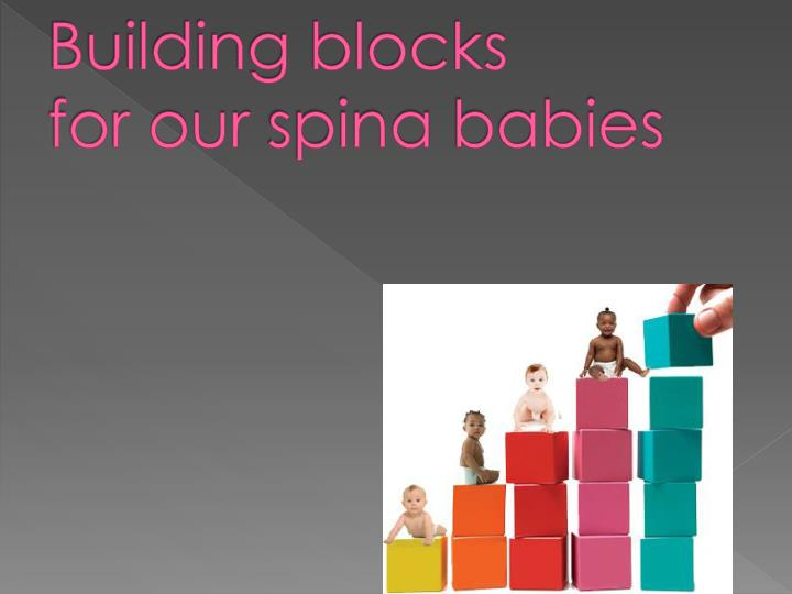 building blocks for our spina babies n.