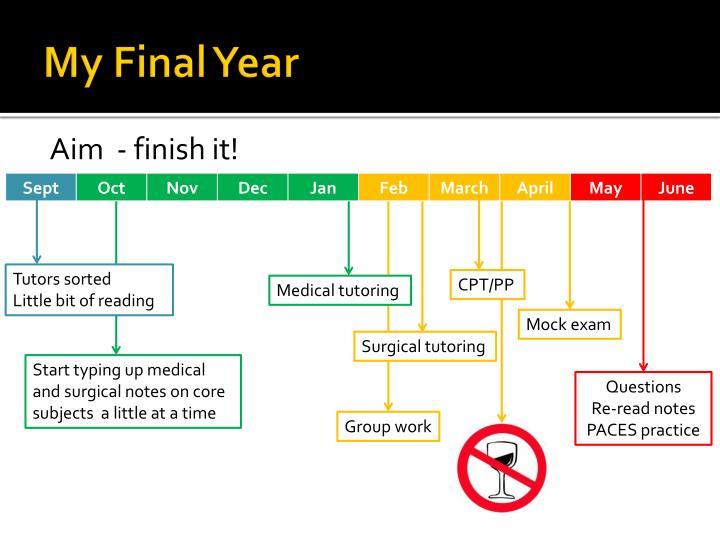 My Final Year
