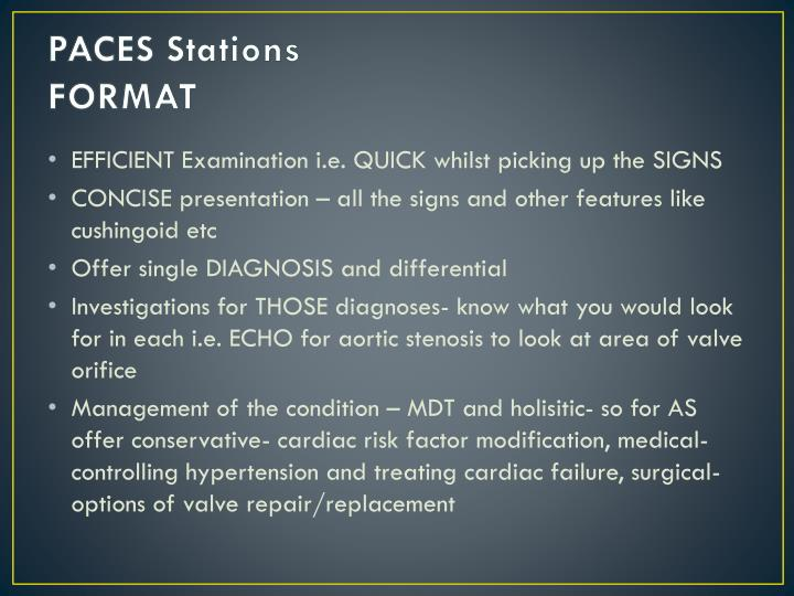 PACES Stations