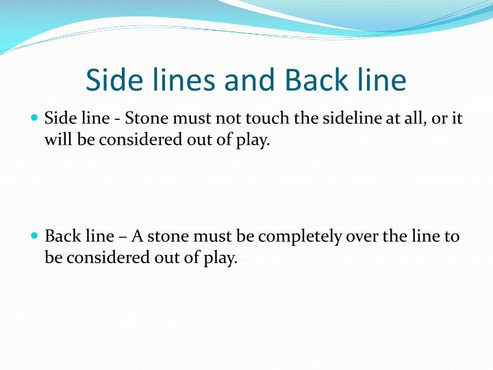 Side lines and Back line