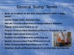 general bump terms