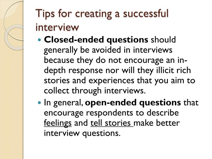 Tips For Creating A Successful Interview