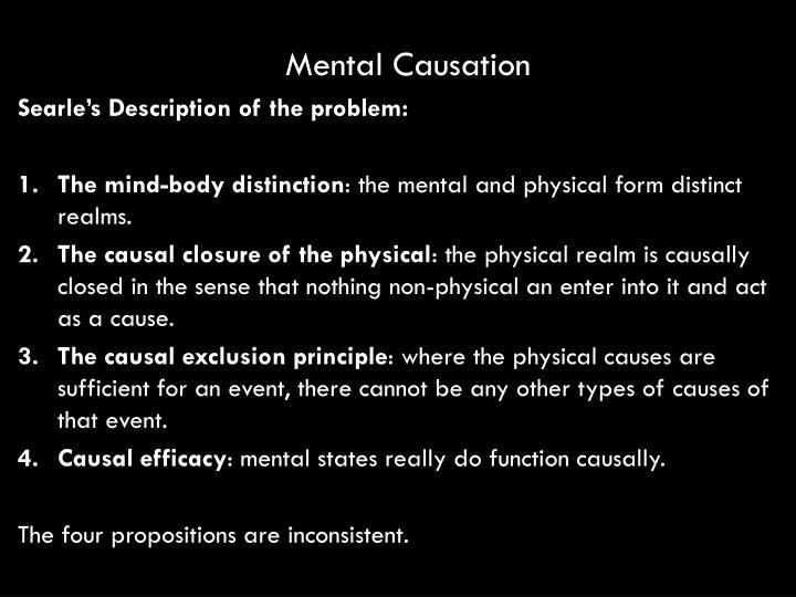 Mental Causation