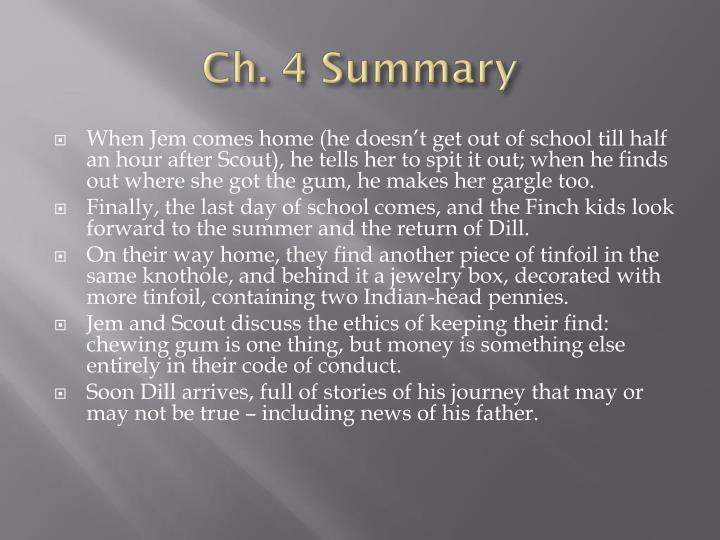 Ch. 4 Summary