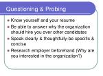 questioning probing