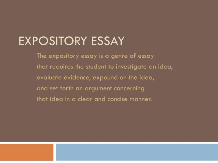 powerpoint presentation on expository essay
