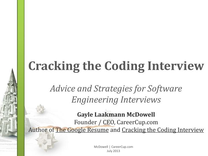 cracking the coding interview n.