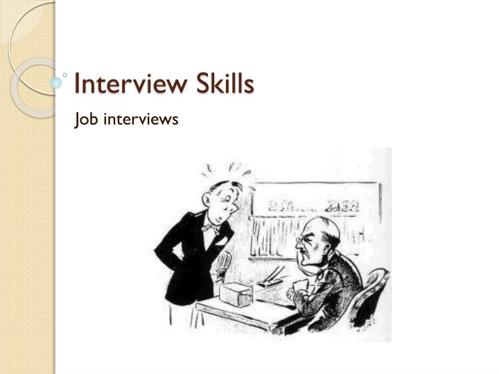 interview skills n.