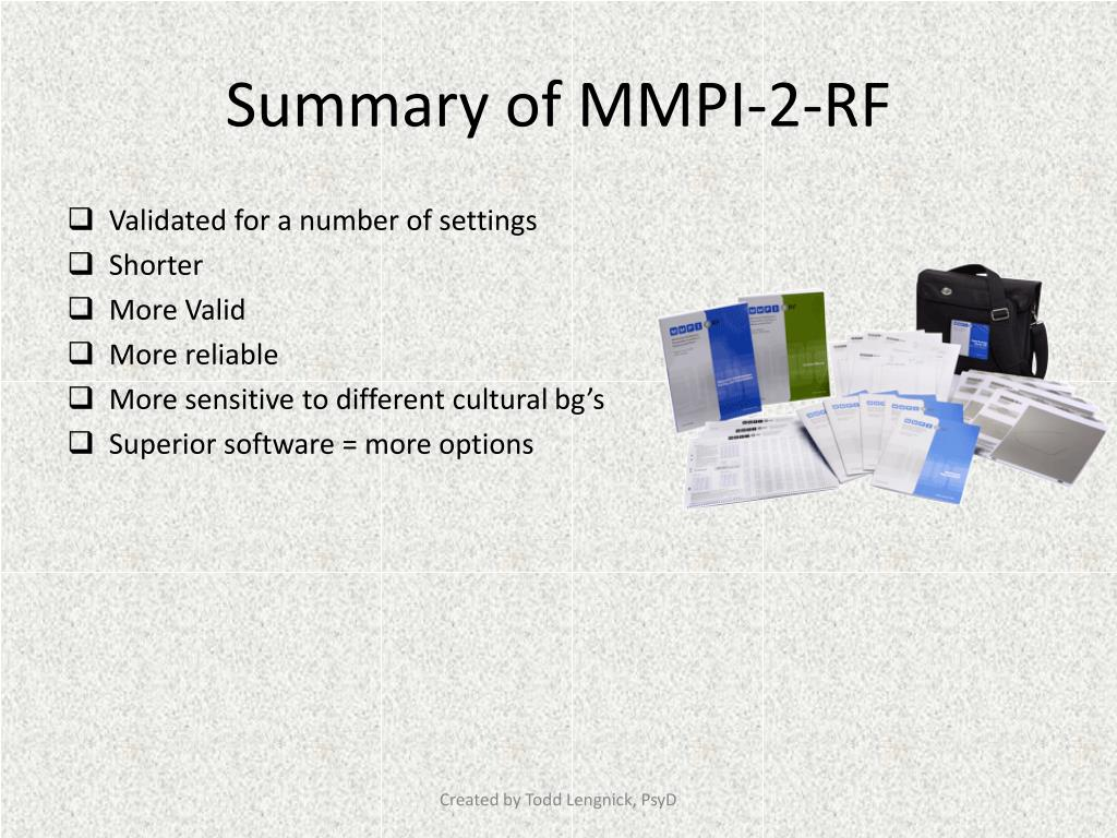 mmpi 2 software free download