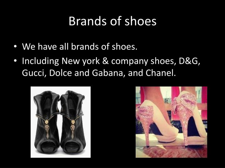Brands of shoes