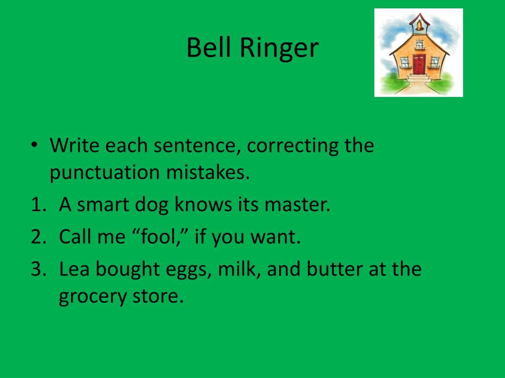 PPT - 8/20 Bell Ringer PowerPoint Presentation, free ...