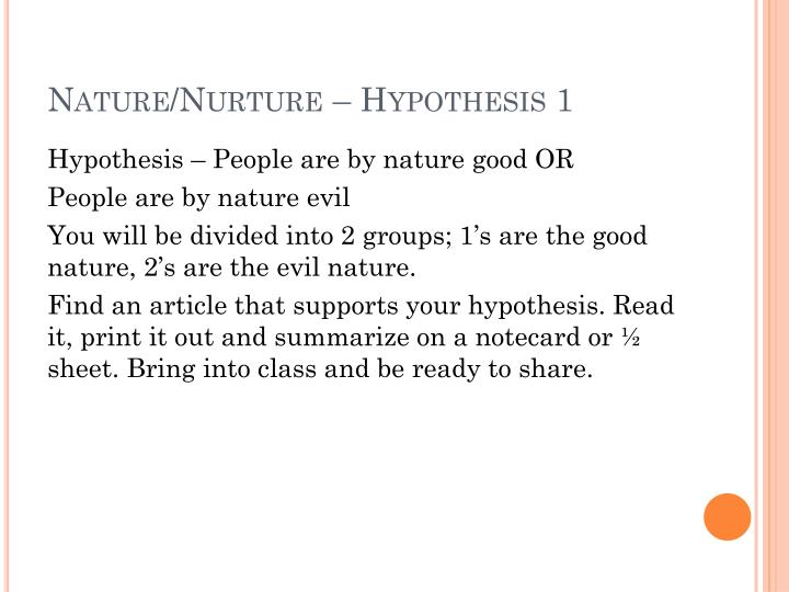 Homosexuality nature or nurture ppt