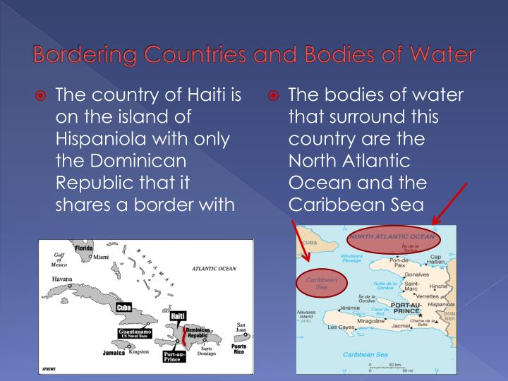 Bordering Countries and Bodies of Water