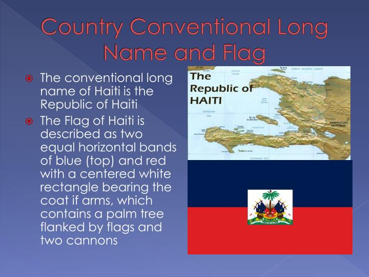 Country Conventional Long Name and Flag