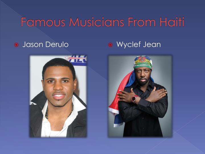 Famous Musicians From Haiti