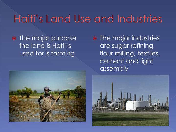 Haiti's Land Use and Industries