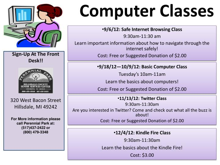Ppt Computer Classes Powerpoint Presentation Free Download Id 1849028