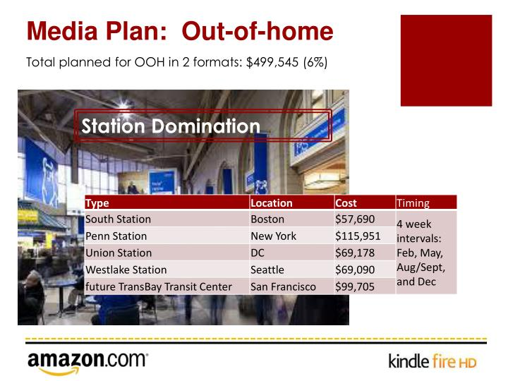 Media Plan:  Out-of-home