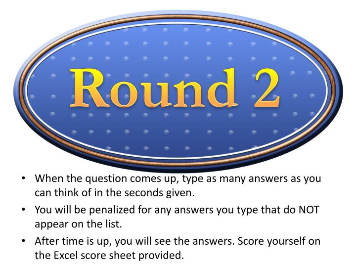 Round 2