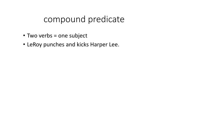 compound predicate
