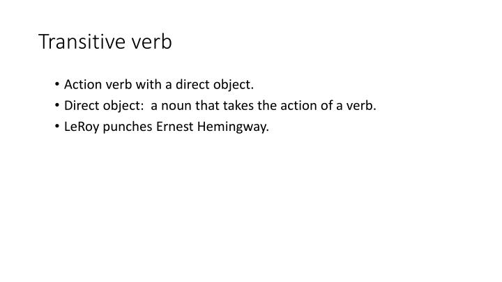 Transitive verb