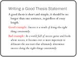 writing a good thesis statement
