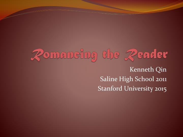 romancing the reader n.