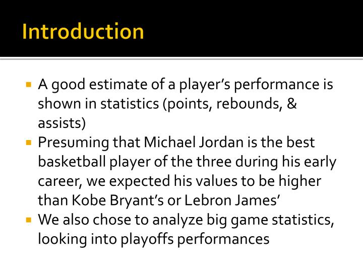super popular 74b85 322fb A good estimate of a player s performance is shown in statistics (points,  rebounds,   assists)  Presuming that Michael Jordan ...